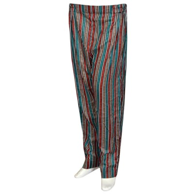 Multi Color Capri Trouser With Butons On The Side