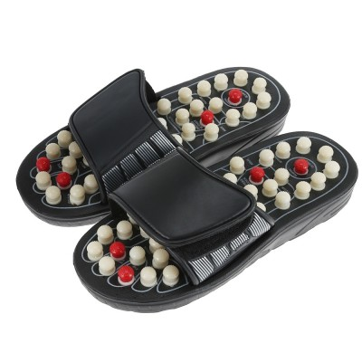 Foot Massage Slipper Foot Care Rotating Acupuncture Height Adjustable Foot Relax Massager Sandal Reflex Slipper