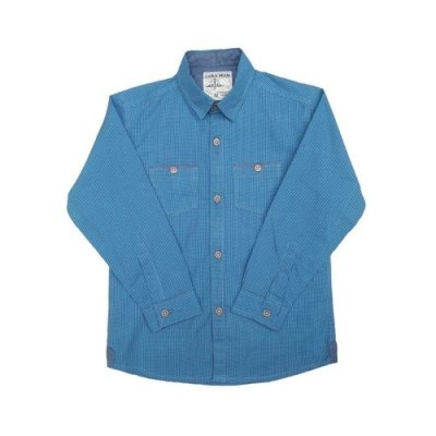 Blue Cotton Casual Shirt For Boys Export Quality