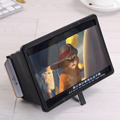 3D Mobile Screen Enlarger Magnifier F2 Black