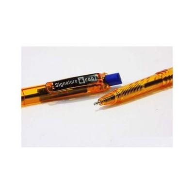 Pack of 10- Signature Orange Ball Point BLUE