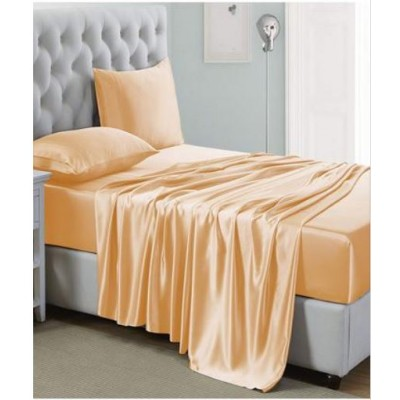 Baggy Beans Fitted Sheets -4 Pcs of Soft Silk Shine Fitted Sheet