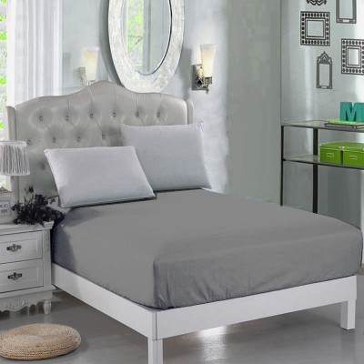 Light Grey Jersey Polyester Queen Size Bed Sheet Qb-Mix5