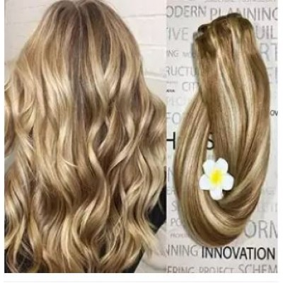 Clip in Hair Extensions Golden Brown