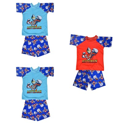 Pack Of 3 Cartoon Character Swimming Suit For Boys Multicolor (4 To 5 Years)