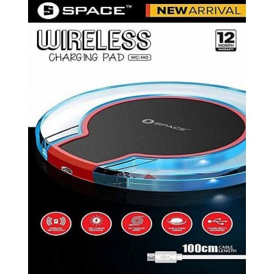 Wireless Charging Pad Wc-140 With 100Cm Cable Support All Mobile Devices With Qi-Enabled