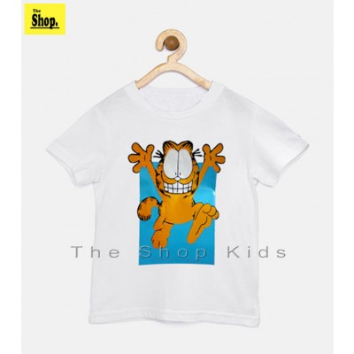 The Shop - White Cartoon Stylish T-Shirt For Kids - WC-HQ1