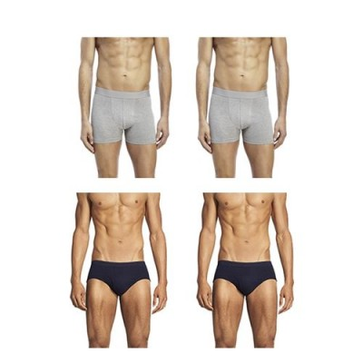 Pack of 4-Multicolor Cotton Boxer &  Inner Brief for Men-XL