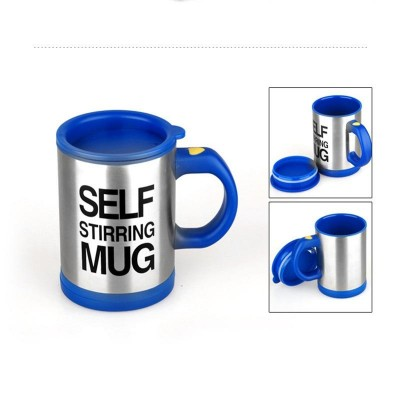 Bluecoffee Mug Creative Stainless Steel Self Stirring With Lid Automatic Mixing Lazy Insulated Cup