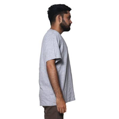 Half Sleeves Grey T-Shirt