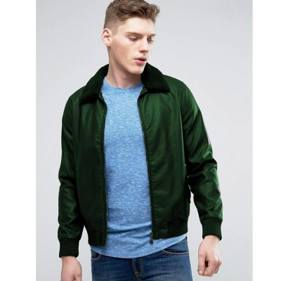 High street Green Faux Leather Jacket