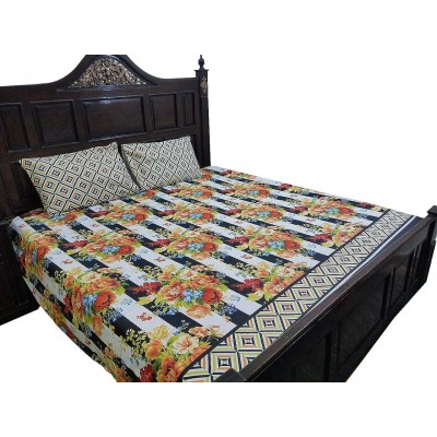 American Design Cotton Printed Bed Sheet