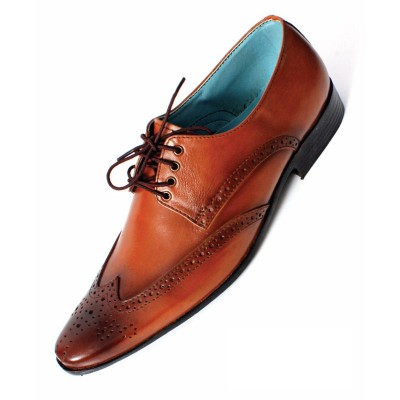 Brown Formal Leather shoes-L1028C