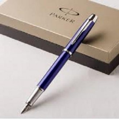 Parker I M Fountain Pen With Customized Text Engraving Blue