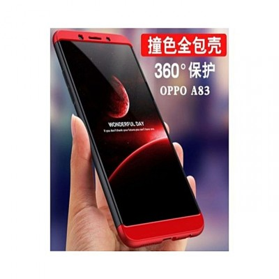 360 Protective Case For Oppo A83 - Red Black