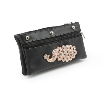 Picock Bunch Casual Hand Clutch For Girls  With Extra Pockets -Black color - BG241