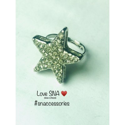 Star Diamonties Ring