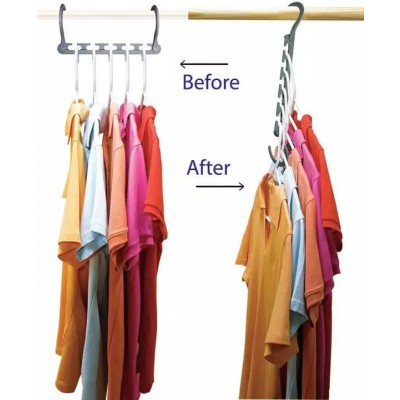 Multi Functional Clothes Hanger Holder Portable Anti-Slip Storage Rack Space Saving Hook for Garment Drying