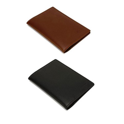 Pack Of Two Real Leather Passport Cover