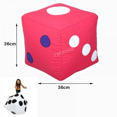 Ludo Dice Stool Bean Bag - Pink