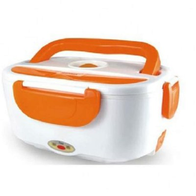 Multi Function Electric Lunch Box-Orange White