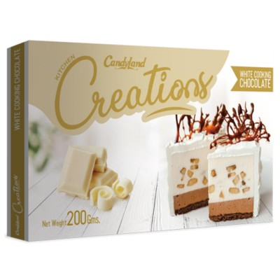 Creations White Cooking Chocolate 200Gm Bar