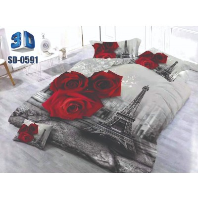 3D Silver Double Bedsheets.0591