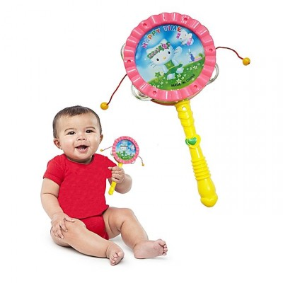 3 In 1 Baby Shaking Rattle Cartoon Bell Drum Toy For Kids