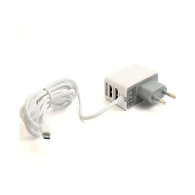 Mobile Charger For Android Smartphones - White Color