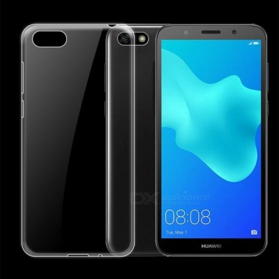 Huawei Y5 Prime Case, Flexible Soft Slim Jelly Transparent Clear TPU Cover for Huawei Y5 Prime TPU