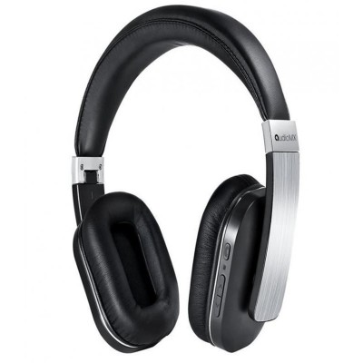 AudioMX Over-Bluetooth Headphones with Mic-Alloy Silver