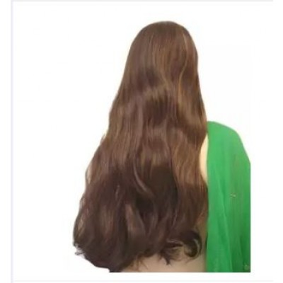 Hair Wig Brown Copper Mix Extra Long Synthetic In Pakistan