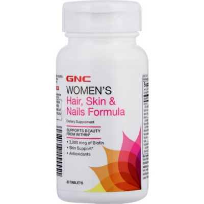 Gnc Women'S Hair Skin & Nails Formula 60 Tablets