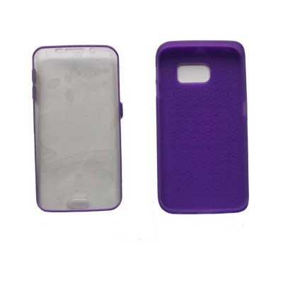 2 In 1 Hybrid Tpu Back Cover For Samsung Galaxy S6 Edge - Purple