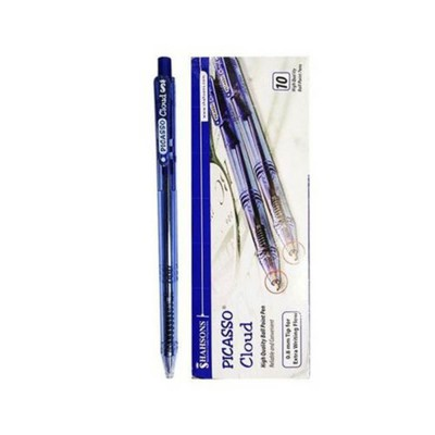 Pack of 10- Picasso Cloud Ball Point BLUE