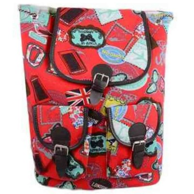 Modish Backpack School Bags - Red