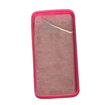 2 In 1 Hybrid Tpu Back Cover For Samsung Galaxy S6 Edge - Pink