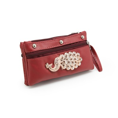 Picock Bunch Casual Hand Clutch For Girls  With Extra Pockets -Maroon color - BG240