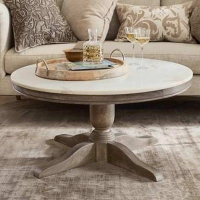 Alexandra Marble Round Coffee Table Furniture