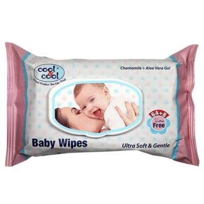 Baby Wipes 64+8 Pcs Ultra Soft and Gentle