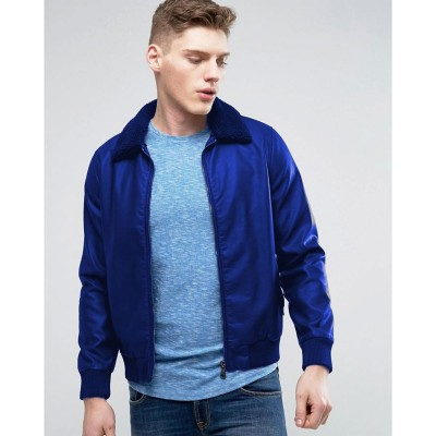 High street Blue Faux Leather Jacket