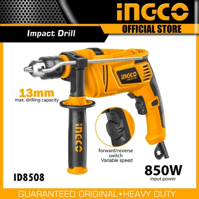 INGCO Impact Drill 850W Copper Variable Speed Back/Forward