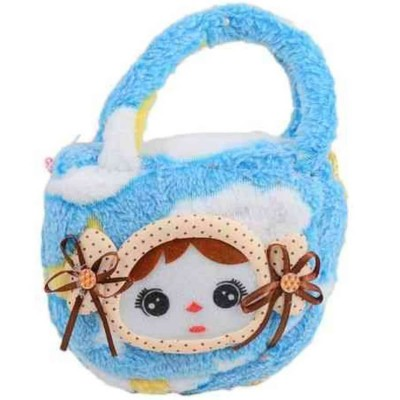 Small Baby Stuffed Clutch For Her - 6X4 - Blue