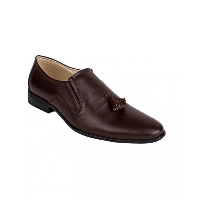 Choco Brown Leather Loafer Shoes