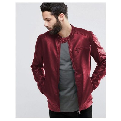 High street Maroon Faux Leather Jacket