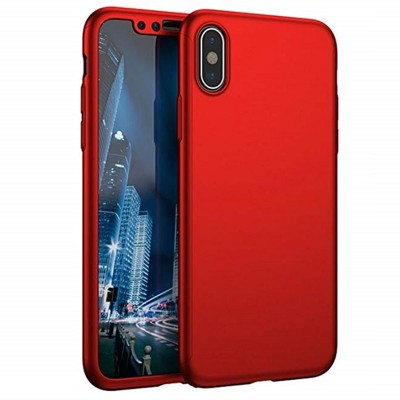 Honor 8X 360 Front and Back Cover - Red