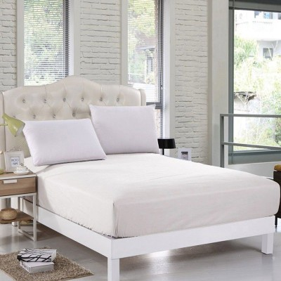 White Jersey & Cotton Queen Size Bed Sheet QS-Cotton14
