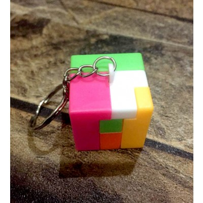 Intelligence Cube Puzzle Educational Lock Toy Keychain Keyring Holder