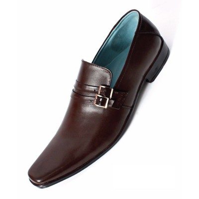 Brown Formal Leather shoes-L1027C