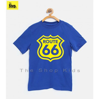 ROUTE66 Royal Blue T-Shirt For Kids - TS-RB1
